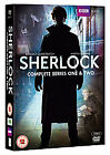 Sherlock - Series 1-2 - Complete (DVD, 2012, 4-Disc Set, Box Set)