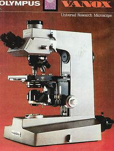 olympus vanox ah microscope instruction manual and brochure on cd ebay rh ebay com olympus microscope manual pdf olympus ch2 microscope manual