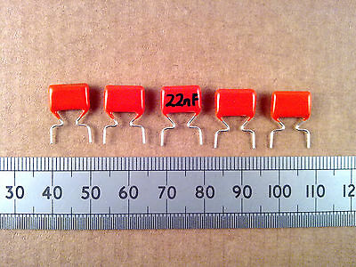Qty 5 : Metallised Polyester 368 Capacitor 10%, 400V, Orange Drop Poly Film Caps