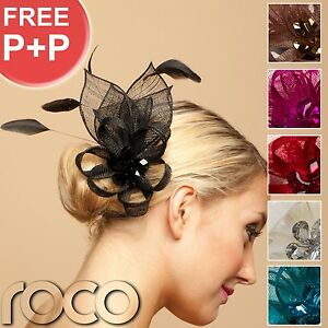 Womans-Ladies-Black-Red-Jade-Floral-Fascinator-Wedding-Bridal-UK-Hair-accessory