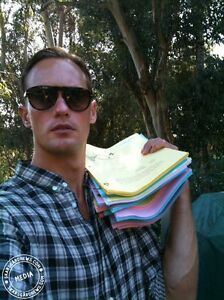 Alexander-Skarsgard-signed-True-Blood-S3E11-script