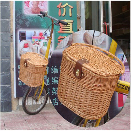 2015 Fashion Cycling BICYCLE BIKE WILLOW WICKER Manual BASKET CLASSIC Style