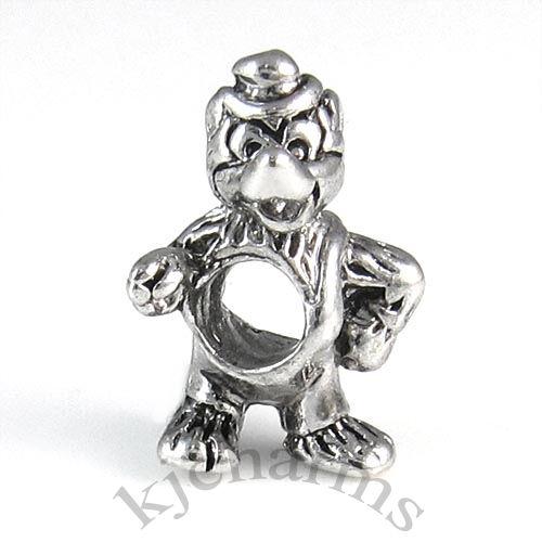 Wholesale Lot 10pcs Cocky Cat Silver European Bracelet Spacer Charm Beads W#16