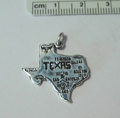 Sterling Silver 23x23mm State of Texas Map Charm