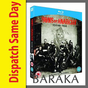 SONS-OF-ANARCHY-COMPLETE-SEASON-SERIES-4-BLU-RAY-RB-NEW-amp-SEALED-034-dvd-box-set-034