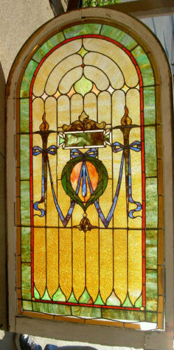 Antique stained glass collection on ebay for 1900 stained glass window