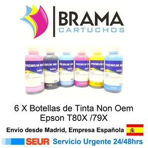 6-Botellas-de-tinta-de-100ml-Non-Oem-Epson-Stylus-photo-R265-R360-R285-RX560