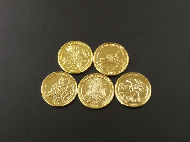2012 Complete Set of 24kt. Gold Plated Parks Quarters
