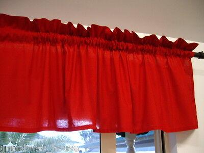 Window Curtain Valance Red - 100% Cotton