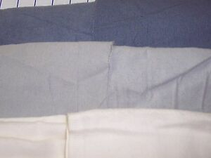 CANTON-Flannel-Backed-Twill-lightweight-100-cotton-fabric-blue-gray-natural