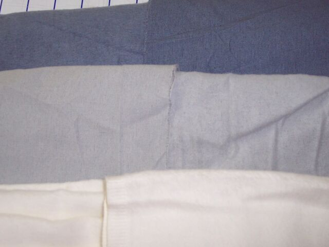 Flannel one-side nap 100% cotton fabric thin interlining blue gray natural white