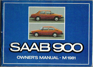 saab 900 turbo gle gli gls gl 1980 81 original owners manual rh ebay com Saab 900 Turbo saab 900s owners manual