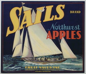 SAILS-Vintage-Wenatchee-WA-Apple-Crate-Label-sailboat
