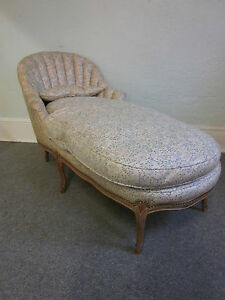 Vintage Louis Xv French Chaise Lounge Recamier Ebay