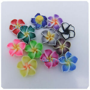 30-Pcs-mixed-polymer-clay-Loose-Lily-Flowers-spacer-beads-Findings-5-x-12mm-R67