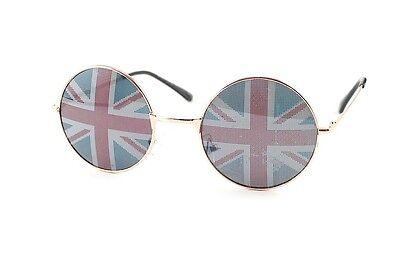 Union jack john Lennon Round Ozzy Vintage Hippie 60s 70s Hippy Sunglasses