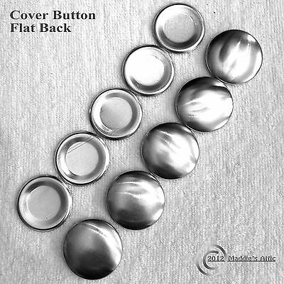 Cover Button - Flat Back / Wire Back - Choose Your Size - FREE SHIPPING