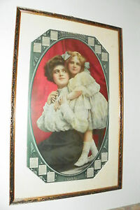 CONTEMPORARY DATED 1909 METROPOLITAN INSURANCE CALENDAR W/ WOMAN AND CHILD 224