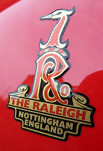 RALEIGH-Vintage-style-039-Domed-039-logo-Decals-Stickers-Badges-Chopper-Grifter-BMX