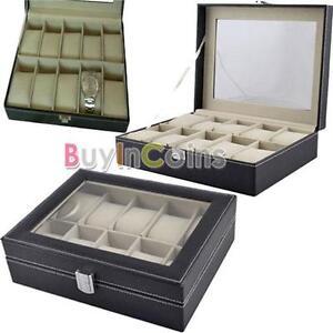 10-Slots-Watch-Display-Storage-Box-Holder-Organizer-Windowed-Show-Case-Gift