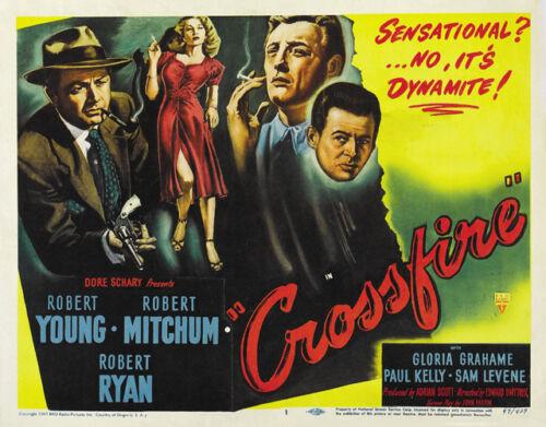 Crossfire 1947 Robert Mitchum movie poster print 7