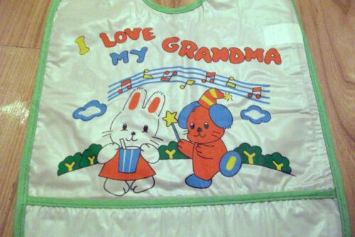 BABY CRAFT BIB I Love My PVC EASY CLEAN WEANING Girl//Boy ROLL BOTTOM,WATERPROOF