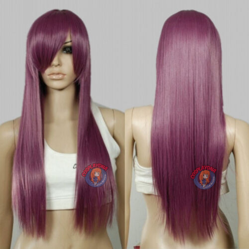 28 inch Hi_Temp Series Burgundy Red Long Cosplay DNA Wigs 761716