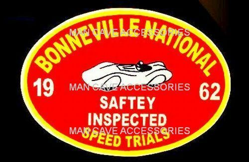 Nostalgic 1962 Bonneville Nationals Speed Trials Vinyl Decal Sticker
