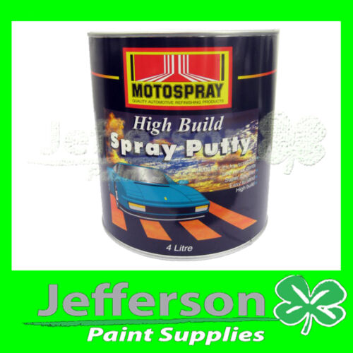 SPRAY PUTTY 4L SUPERFINE HIGH BUILD - MOTOSPRAY HICHEM ACRYLIC ENAMEL