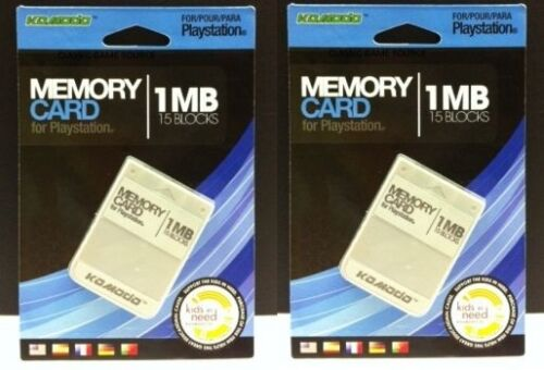 2 NEW 1 MEG  Memory cards for the Sony Playstation 1 Psone System Console