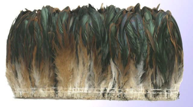 "1/4 lb Half Bronze Rooster Tail Coque Feathers 6-8"" L"