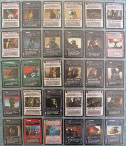 J Star Wars CCG Jabba/'s Palace Rare Cards Part 1//3  A