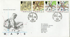 17-SEPTEMBER-1991-ORDINANCE-SURVEY-MAPS-ROYAL-MAIL-FIRST-DAY-COVER-SOUTHAMPTON
