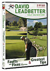 David Leadbetter - Faults and Fixes / Greatest Tips (DVD, 2012, 2-Disc Set)