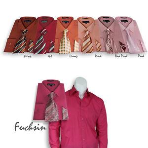 Men-039-s-Milano-Moda-Set-Dress-Shirt-with-Matching-Tie-and-Handkerchief-201