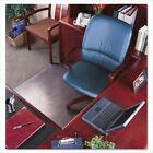 UltraMat Vinyl Chair Mat for Plush Pile, Beveled, 45 x 53, Clear