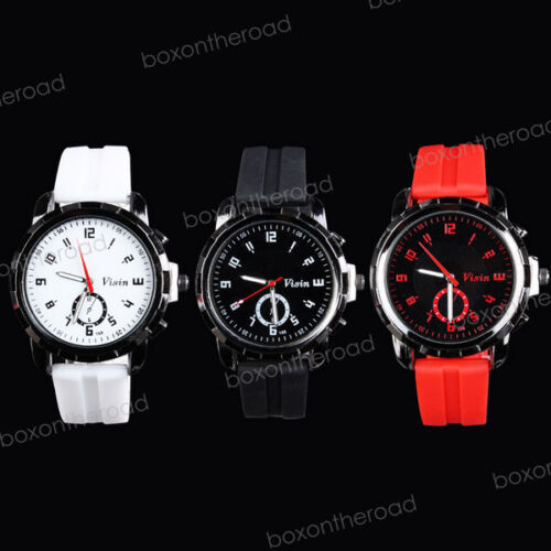 Fashion Men Army Military Silicone Rubber Sport Unisex Analog Quartz Wrist Watch