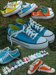 Women-Girls-Canvas-Sneaker-Shoes-Platform-High-3-5cm-Fashion-Colours-All-Size