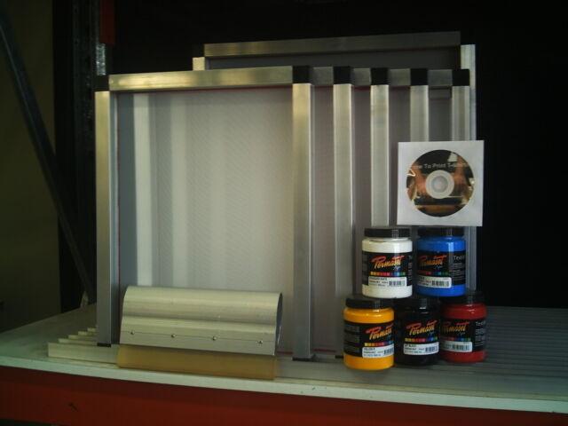 5 x Screen Printing Frame 300x400 Kit - Free Hinge clamp set