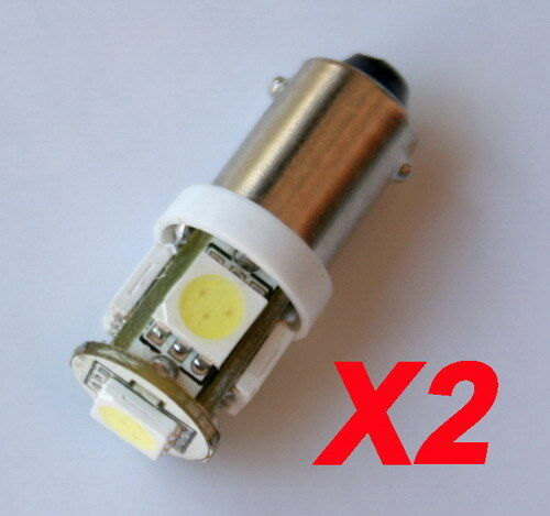 2 Stück Standlicht 5 SMD LED T4W Ba9s XENON Weiß 12V DC