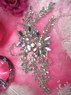 """XR83  Aurora Borealis Crystal AB Rhinestone Applique Embellishment 9"""" Sewing :)"""
