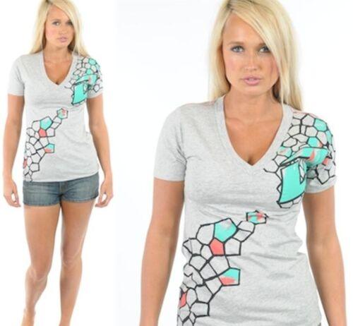 One Industries Para Mujer Camiseta Piana Tee Negra O Gris Motocross Mx
