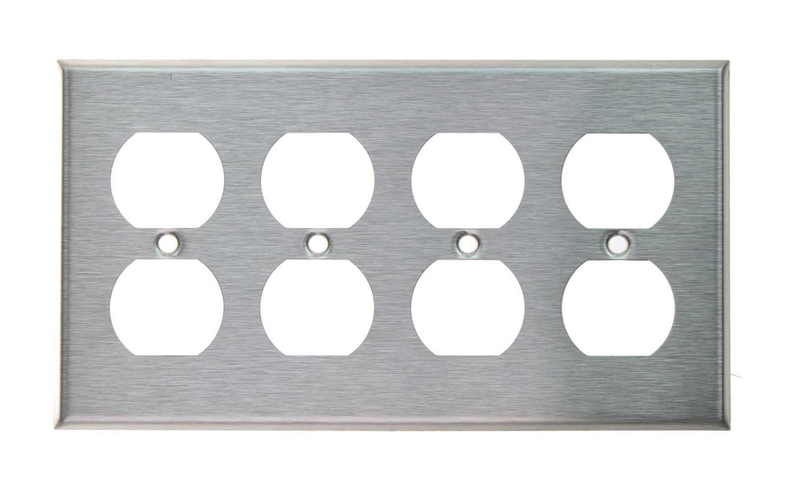 Brushed stainless steel outlet cover duplex receptacle