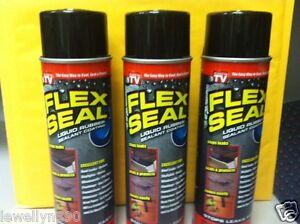 3 Jumbo Cans Flex Seal 14 Oz Liquid Rubber Sealant As