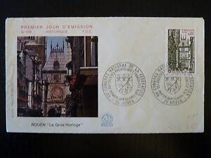 France Premier Jour Fdc Yvert 1875 Congres Philatelique 0,80f Rouen 1976 Brillant