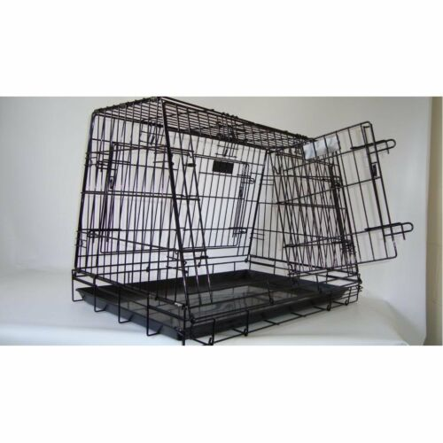 Double 4 Door Sloping Dog car cage crate  GYC03PF