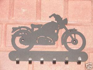 Vintage Motorcycle Key Rack Coat Hanging Hook Harley