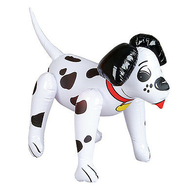 """20"""" CUTE INFLATABLE BLACK AND WHITE DALMATIAN DOG PET BLOW UP TOY *NEW*"""