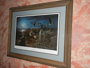 Terry Redlin Night Flight Framed Signed Most Sought