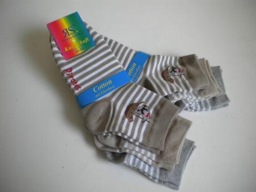 3 6 ou 12 Paires De Chaussettes Enfants Enfants Chaussettes rayures avec motif 1d4